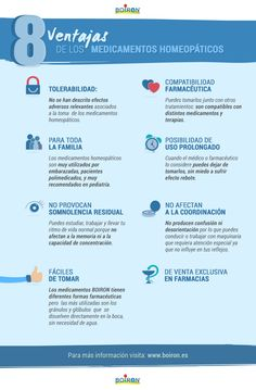 8 ventajas de los medicamentos homeopáticos: en esta nueva infografía BOIRON destaca los ochos aspectos más relevantes de los medicamentos homeopáticos. Cuestiones relacionadas con la tolerabilidad o si son fáciles de tomar quedan resueltos en esta esquemática presentación.