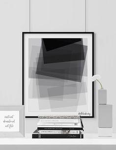 Minimalist poster printable poster Scandinavian by ArtFilesVicky Black And White Wall Art, Minimalist Poster, Scandinavian, Digital Prints, Triangle, Abstract Art, Printables, Film Studio, Art Prints