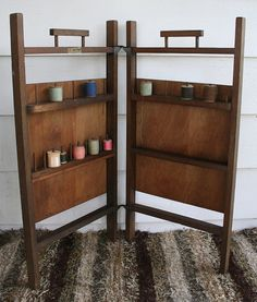 Vintage Sew Tidy Folding Thread Spool Cabinet by PastClassics