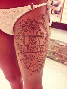 My new bird cage tattoo