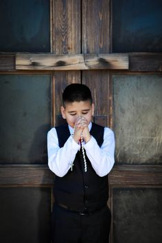 1st Place Winner in The Catholic Company's 8th Annual First Communion Photo Contest: Dominic C. at his First Holy Communion and Confirmation in Phoenix, Arizona