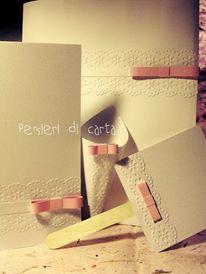 Il coordinato per la cerimonia dal sapore vintage ma romantico! -Cover per il libretto messa -Cono lancia riso -Ventaglio -Wedding bag