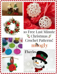 10 Last Minute Free Crochet Patterns for Christmas