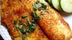 Lemon Butter Tilapia Recipe - Genius Kitchen - omit the flour and this can easily be keto. Made tonight for dinner ( without flour) and it was good. Quick and easy! Baked Tilapia Recipes, Baked Fish, Fish Recipes, Seafood Recipes, Dinner Recipes, Cooking Recipes, Oven Baked, Yummy Recipes, Breaded Tilapia