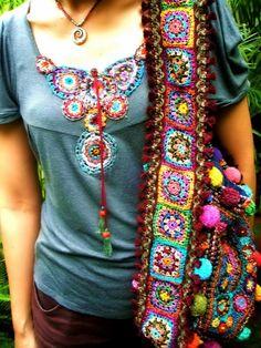 Marvelous Crochet A Shell Stitch Purse Bag Ideas. Wonderful Crochet A Shell Stitch Purse Bag Ideas. Freeform Crochet, Crochet Granny, Crochet Motif, Knit Crochet, Crochet Patterns, Crochet Mandala, Mode Crochet, Crochet Shell Stitch, Crochet Handbags