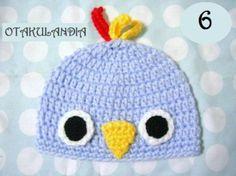 Gorro Pajarito Azul - diseñado y realizado a mano en crochet para mantener calentitos a los más peques de la casa, es divertido, cálido y confortable, perfecto para un bebé!