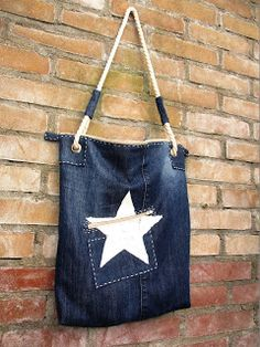 Hip Homemade: Jeans tas met ster
