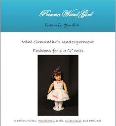 PDF Pattern Mini Samantha Undergarments by PrairieWindGirls, $6.00