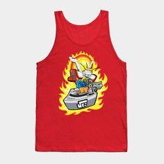 Burning Finger Turntablist - Mens Tank Top