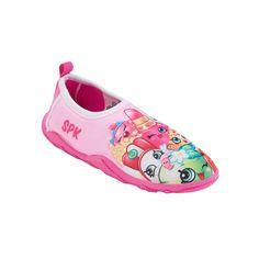 Girls 4-16 Shopkins Poppy Corn, Lippy Lips & Apple Blossom Aqua Shoes, Size: 13-1, Light Pink