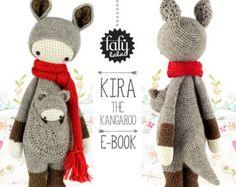 lalylala canguro KIRA - PATRÓN de crochet en PDF