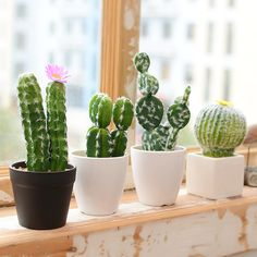 Cheap Artificial & Dried Flowers, Buy Directly from China Suppliers:Artificial Succulents Cactus Green Plant Simulation Plants Fake Flowers DIY Home Decoration Desert Plants Landscape