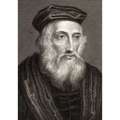 John Wycliffe Also Spelled Wycliff WyclifWicliffe Wiclif C1330-1384 English Theologian Philosopher And Church Reformer19Th Century Print Engraved By Edward Smith From An Original Painting Canvas Art -