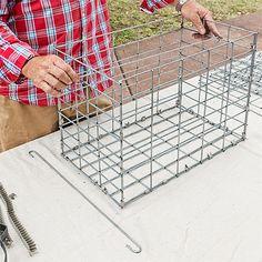 Home-Dzine - Gabion-style outdoor table set