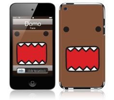 ipod touch 4th generation domo cases | Music Skins MS-DOMO10201 iPod Touch- 4th Gen- Domo- Face Skin