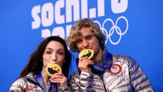 Meryl Davis and Charlie White, USA Meryl Davis and Charlie White earned the first Olympic ice dance gold medals at the Sochi Games, and showed them off proudly to the cameras waiting for them after the medal ceremony. - See more at: http://www.nbcolympics.com/wjar/photos/meryl-davis-and-charlie-white-receive-their-olympic-gold-medals#sthash.6JxFcwl7.dpuf