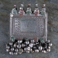 Antique Silver Amulet Pendant India   eBay $99.95