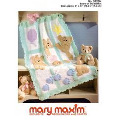 Mary Maxim - Bears on My Blanket Pattern - Patterns - Patterns & Books - $3.99 in English
