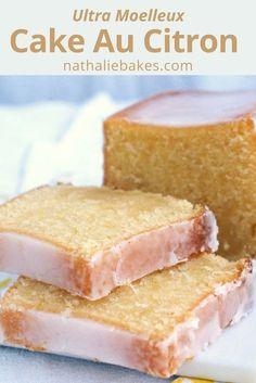 Recette du cake au citron de Bernard Laurance: un gâteau ultra moelleux et parfumé, recouvert d'un glaçage au citron. Délicieux! | nathaliebakes.com via @https://www.pinterest.com/nathaliebakes/