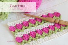 Crochet Tulip Stitch Video Easy Tutorial