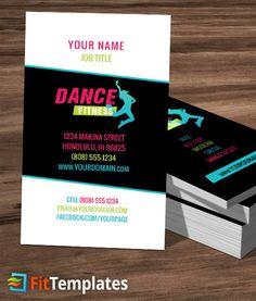 Dance Class Business Card Template 3 1 Studio Create Your