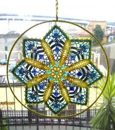 CROCHET MANDALA with healing colours and coloured crystals. www.ilcuoredellecose.com