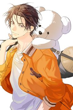 Takao Kazunari: Kazu-chan, your sexy level has risen 1000 points. Also the teddy bear adds to your fujoshi appeal enough that I might kiss my screen. I had a bear like this as a kid called Mr. Cool. It was, indeed, very cool - enough that Kazu-chan would want him too. #黒子のバスケ