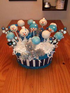 New Ideas Cake Pops Bouquet Cakepops Christmas Cake Pops, Christmas Snacks, Christmas Goodies, Christmas Fun, Holiday Cakes, Christmas Desserts, Christmas Baking, Cake Pop Bouquet, Snowman Cake Pops