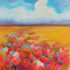 Landscape, painting by artist Kay Wyne
