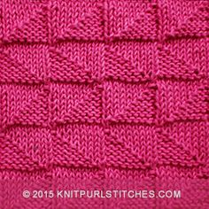 Knit and Purl combinations |  Alternating Broken Check stitch