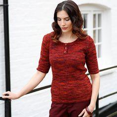 Short Sleeved Jumper Knitting Pattern or Buy as Kit