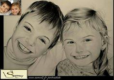 Dessin portrait au crayon realiste. Retrouvez moi sur facebook pour commander le votre d'aprés vos photos, tout peux ce faire à distance. samos17 portraitiste