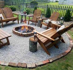 Fire Pit Area, Fire Pit Backyard, Backyard Patio, Garden Fire Pit, Cement Patio, Flagstone Patio, Backyard Seating, Patio Roof, Modern Backyard Design