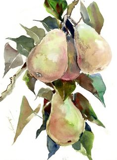Buy Pears on the Tree, Watercolor by Suren Nersisyan on Artfinder. Discover thousands of other original paintings, prints, sculptures and photography from independent artists.