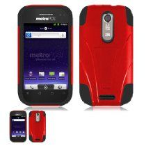 WirelessTentCom [ZTE SCORE X500M] offer ZTE Score M X500M Red And Black Hardcore Kickstand Case. This awesome product currently limited units, you can buy it now for  , You save - New