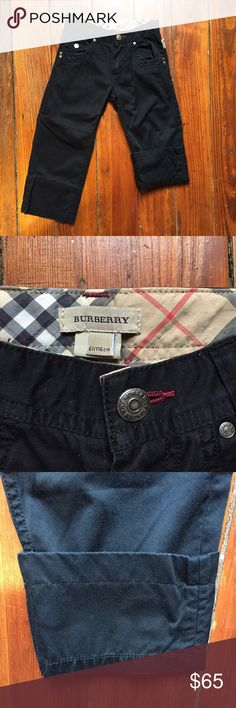 Burberry Pants Boys 6Y Black EUC! Judging by the seam in the legs they can be worn as crops too. Hooray for fashionable versatility! Burberry Bottoms Casual