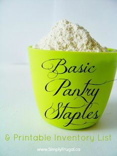 Having a well-stocked pantry can save you from unnecessary trips to the grocery store. Here's a list of basic pantry staples to have on hand at all times! Pantry Staples List, Pantry List, Pantry Essentials, Food Staples, Pantry Ideas, Pantry Inventory, Freezer Cooking, Cooking Tips, Kitchen Pantry