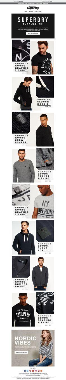 Superdry Surplus Email / Newsletter Design