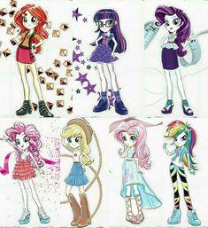#1609065 - applejack, concept art, eqg promo pose set, equestria girls, fluttershy, humane five, humane seven, humane six, official, official art, pinkie pie, rainbow dash, rarity, safe, sci-twi, shoes, sneakers, spoiler:eqg series, sunset shimmer, twilight sparkle - Derpibooru - My Little Pony: Friendship is Magic Imageboard