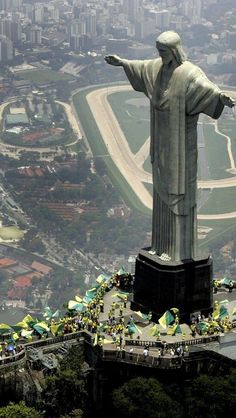Christ the Redeemer, Symbol of Rio. Gigantic Jesus Christ. Looking from above on his sheeps… Created by French sculptor Paul Landowski and built by the engineer Heitor da Silva Costa Brazil in collaboration with the French engineer Albert Caquot.