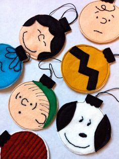 Charlie Brown Hand Embroidered Christmas Ornaments by ALittleGray