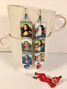 A personal favorite from my Etsy shop https://www.etsy.com/listing/58570655/mona-lisa-earrings-leonardo-da-vinci-old