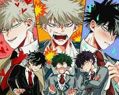 Katsuki Bakugou x Izuku Midoriya My Hero Academia Shouto, My Hero Academia Episodes, Hero Academia Characters, Villain Deku, The Villain, Anime Guys, Manga Anime, Deku Anime, Hero Wallpaper