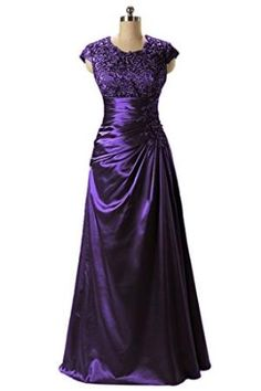=> Angel Bride A-Line Cap Sleeves Jewel Floor-Length Mother of the Bride/Evening Dresses by Arisara