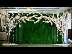New wedding ceremony decorations stage backdrop ideas ideas Wedding Ceremony Ideas, Wedding Reception Backdrop, Garden Wedding Decorations, Wedding Table Flowers, Garden Party Wedding, Ceremony Decorations, Wedding Centerpieces, Reception Ideas, Wedding Wall