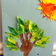Fun toddler craft! Tree and sun