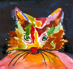 Cat of Many Colors - sold