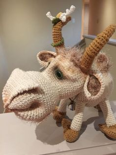 Billy Goat by Ermak Elena. I created him with love and joy. Crochet Animals, Goats, Dinosaur Stuffed Animal, Joy, Create, Amigurumi, Being Happy, Goat