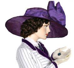Edwardian Hat Downton Abbey Hat Flapper Hat Church Hat ~ Titanic Rose ~ Kentucky Derby Hat