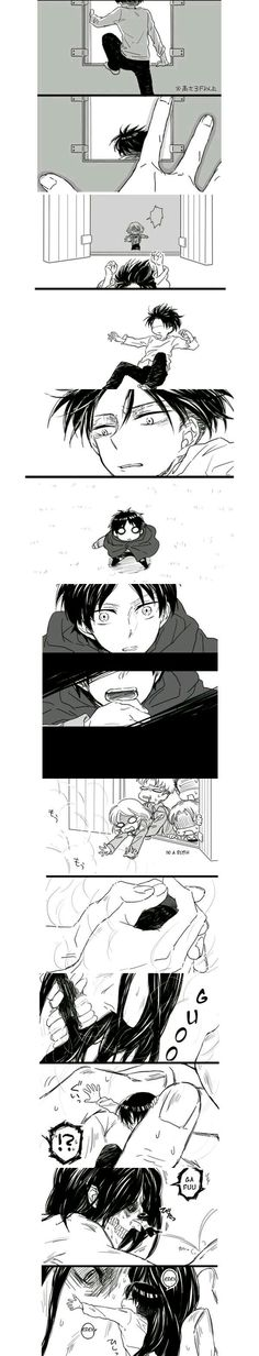 Eren Jaeger x Levi Ackerman / Shingeki no Kyojin Ereri, Eren Y Levi, Otaku Anime, 5 Anime, Fanarts Anime, Attack On Titan Funny, Attack On Titan Ships, Attack On Titan Anime, Aot Gifs